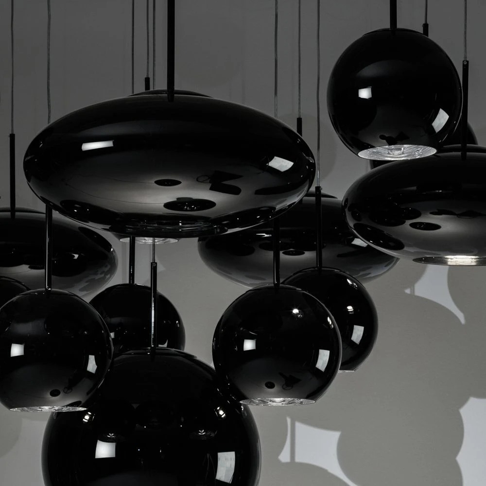 tom dixon black pendant group 1000
