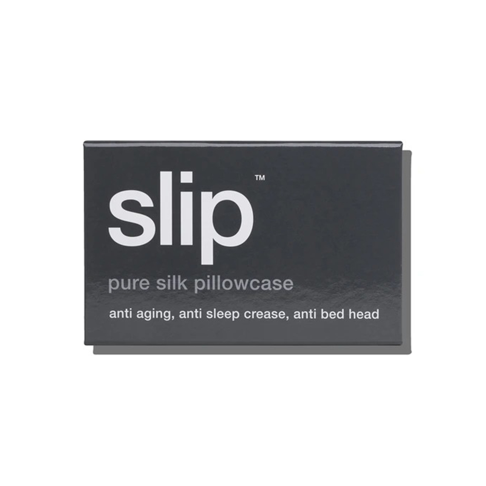 slip silk pillowcase charcoal box 1000