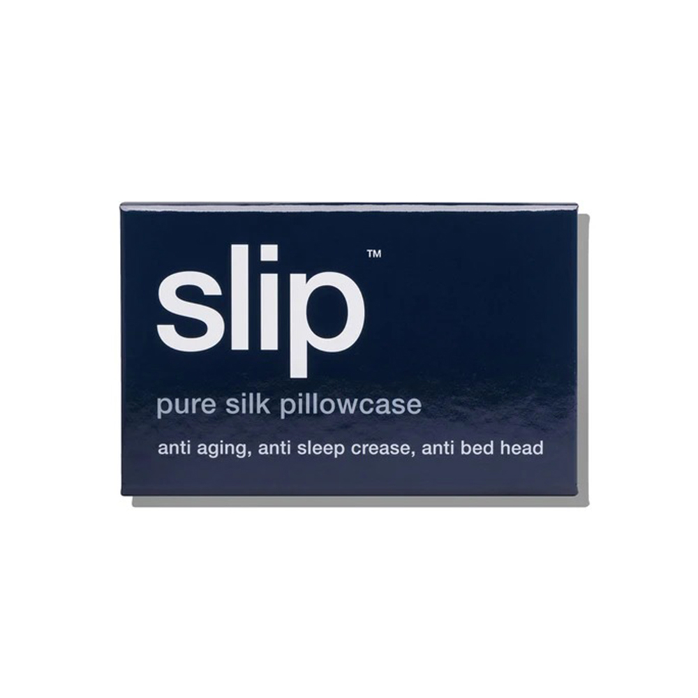 slip silk pillowcase navy box 1000