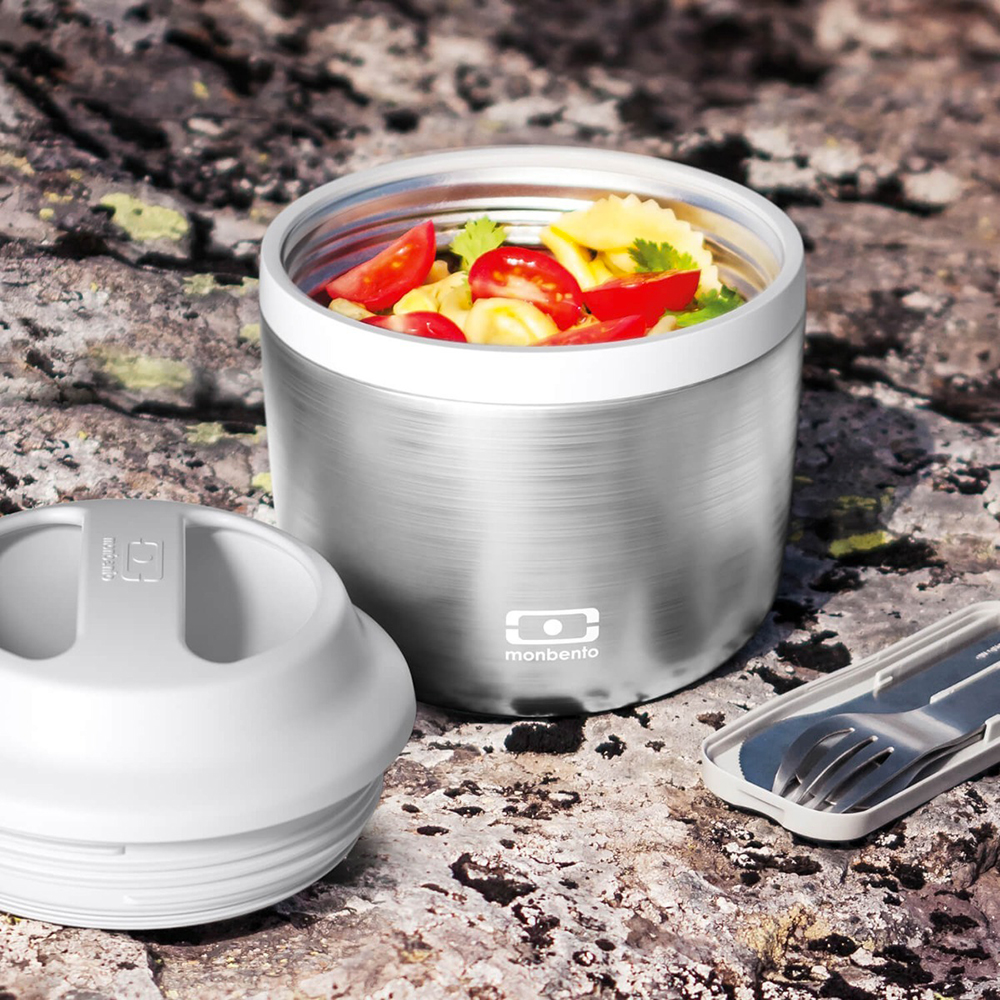 monbento element insulated lunch box silver lifestyle 02 1000