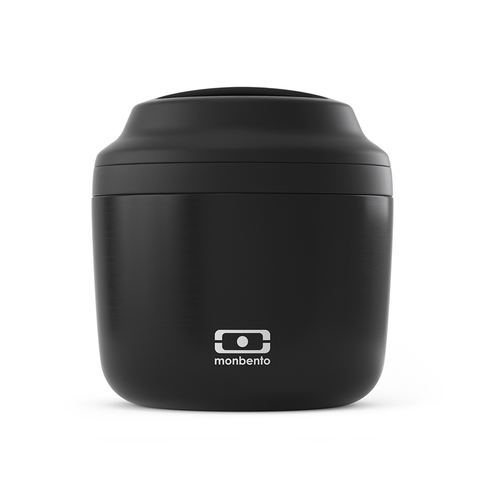 monbento element insulated lunch box black front 1000