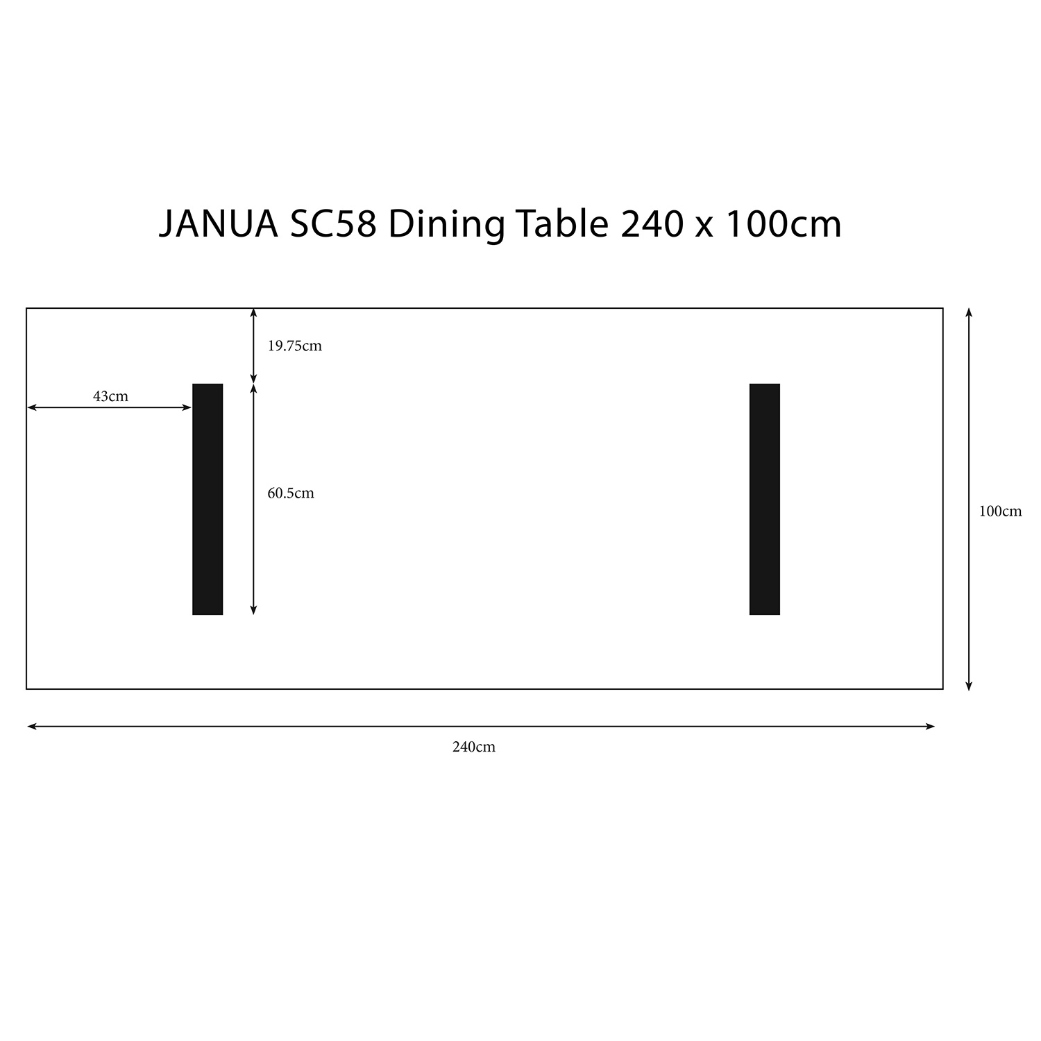 sc58 2 4m table pictorial dimensions