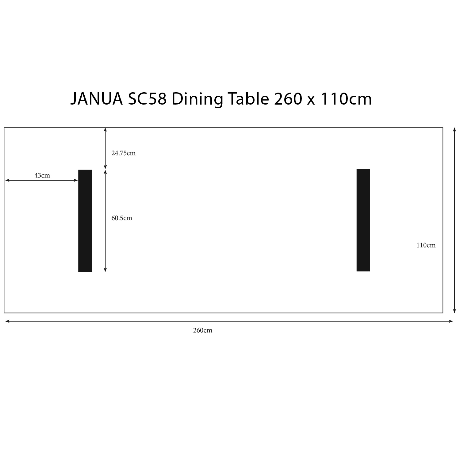 sc58 2 6m table pictorial dimensions