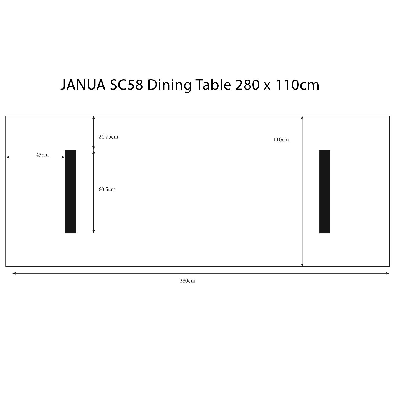 sc58 2 8m table pictorial dimensions