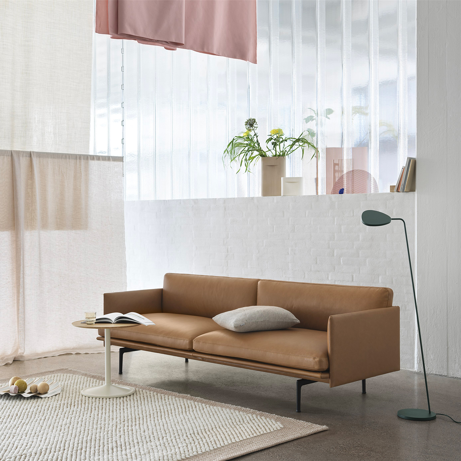 muuto outline 3 seater cognac leather soft side oak white wave 02 1500