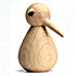 architectmade wooden bird natural large