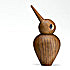 architectmade wooden bird smoked small