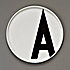 design letters aj-dinner plate-a