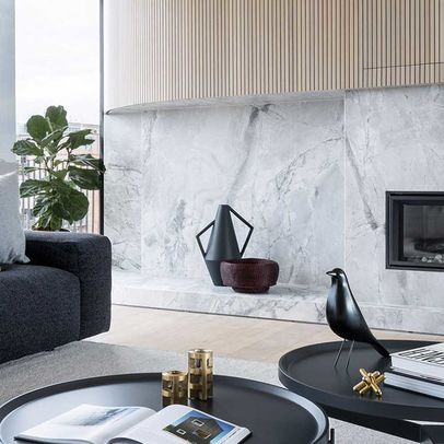 ... Apartment Building Called Haus. Polished Metal Surfaces, Marble And  Timber Work Harmoniously Together To Create A Luxury Feeling Throughout.