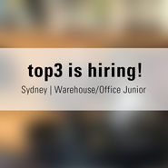 Top3 is hiring | Warehouse Office Junior news from top3 by design
