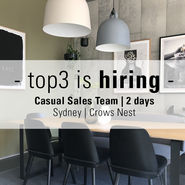 Casual Sales Team Staff needed | CROWS NEST news from top3 by design