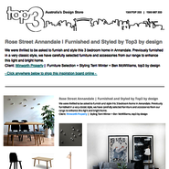 Sunday Inspiration  |  Rose Street Annandale news from top3 by design