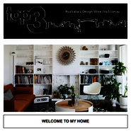 WELCOME TO MY HOME! news from top3 by design