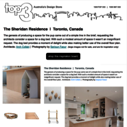Sunday Inspiration  |  The Sheridan Residence  |  Toronto news from top3 by design
