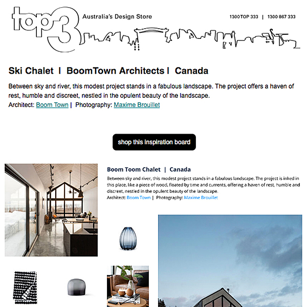 Sunday Inspiration  |  Ski Chalet | BoomTown Architects | Canada news from top3 by design