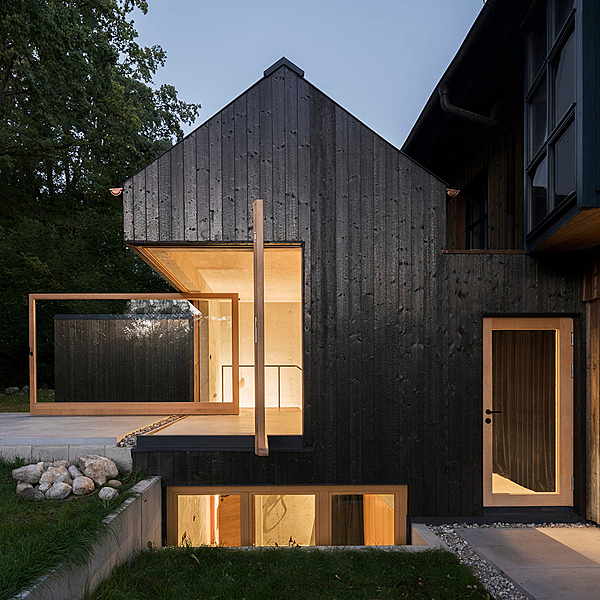 Sunday Inspiration  |  The Black House  |  Amersee, Bavaria news from top3 by design