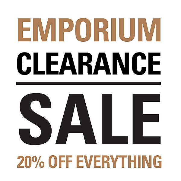 EMPORIUM CLEARANCE SALE news from top3 by design