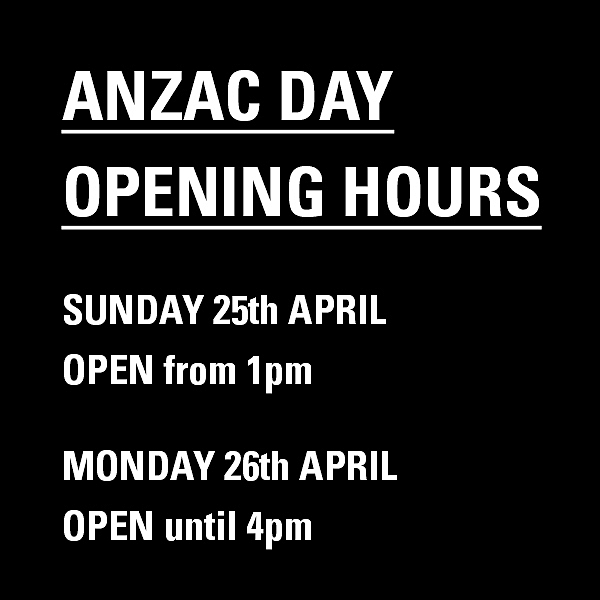 ANZAC DAY OPENING HOURS news from top3 by design