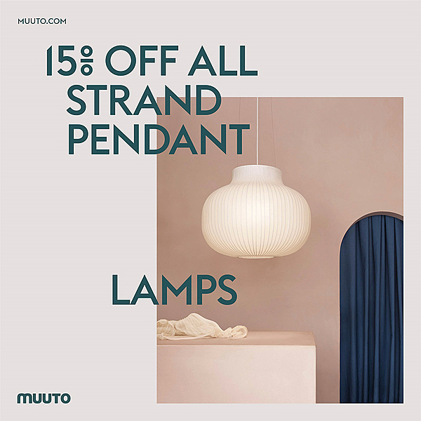 15% OFF MUUTO STRAND PENDANT LAMPS news from top3 by design