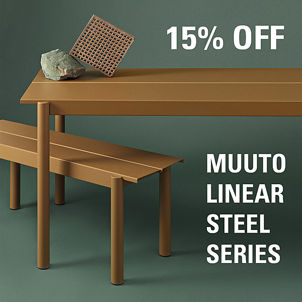 15% OFF MUUTO LINEAR STEEL SERIES news from top3 by design