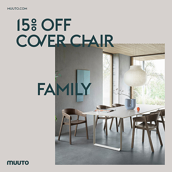 15% OFF MUUTO COVER CHAIR FAMILY news from top3 by design