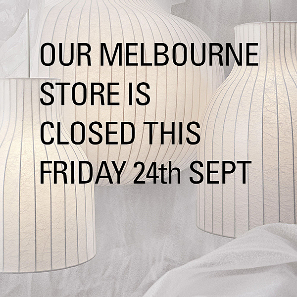 MELBOURNE STORE CLOSED THIS FRIDAY 24th SEPT news from top3 by design