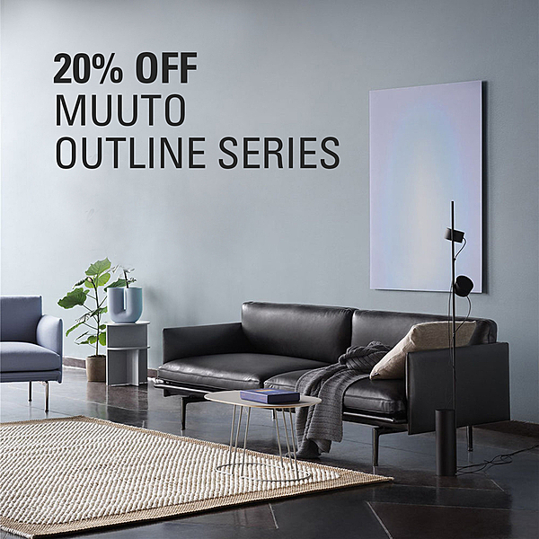 MUUTO OFFER  |  20% OFF OUTLINE SERIES news from top3 by design
