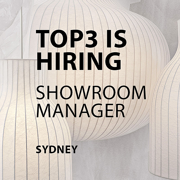 HIRING - SHOWROOM MANAGER  - Sydney news from top3 by design