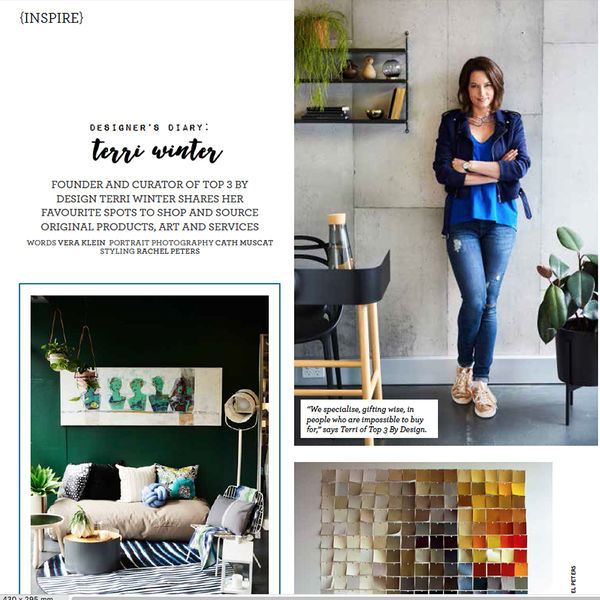 Terri Winter   Home Beautiful Magazine   DESIGNERS DIARY