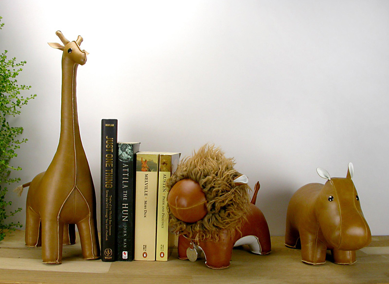 top3 by design zuny zuny bookend elephant tan. Black Bedroom Furniture Sets. Home Design Ideas